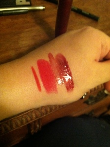 Redd, Ruby Woo, Rave Reviews, and Amorous.